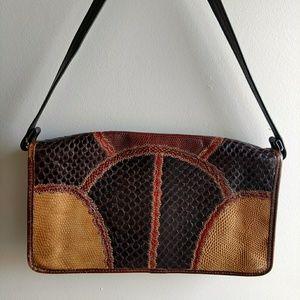 Vintage Carlos Falchi Exotic Leather Bag